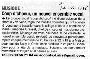 Article DL Coup d'Choeur 24-05-2016