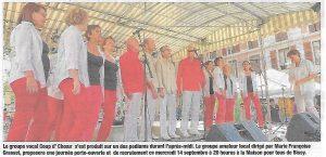 chorale Coup d'Choeur Chambéry le 10 septembre