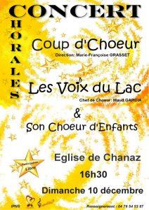 noel -affiche du concert à Chanaz