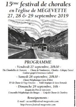 15ième festival chorale de Mégevette