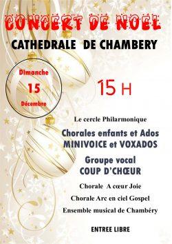 concert noel -Cathédrale de Chambéry
