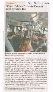 coup d' choeur dans les bus de la ville de Chambéry